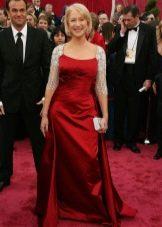Вечернее платье бордового цвета для женщин 50 лет