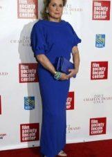 Вечернее платье синее для женщин 50 лет