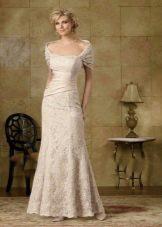Платье для мамы невесты вечернее бежевое