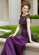 Фиолетовое платье для мамы жениха