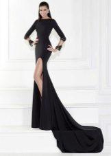 Вечернее платье в пол с рукавами от Марчеза