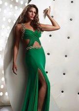 Летнее вечернее платье с разрезами на талии