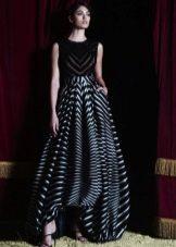 Полосатое платье от Зухаира Мурада Вечернее