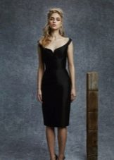 Вечернее атласное платье короткое
