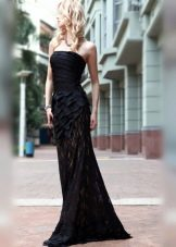 Черное платье вечернее красивое