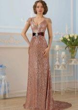 Цветное яркое свадебное платье