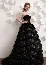 Платье черное свадебное