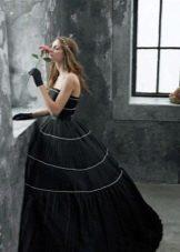 Свадебное платье черное пышное