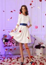 Короткое белое вечернее платье дешевое