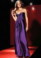 Фиолетовое дешевое платье вечернее