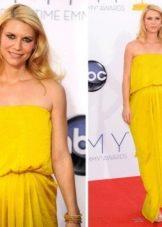 Вечернее платье от Lanvin желтое