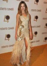 Бежевое платье от Roberto Cavalli
