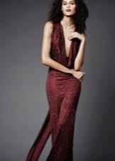 Вечернее платье от Zac Posen бордовое
