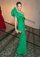 Вечернее платье от Lanvin зеленое