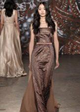 Вечернее платье коричневое