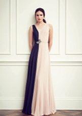 Вечернее платье от Jenny Packham с синей полосой