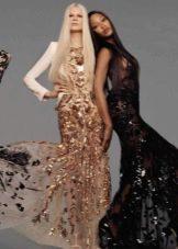 Вечернее дорогое платье из гипюра