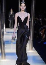 Черное вечернее платье от Армани