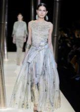 шифоновое вечернее платье от Армани