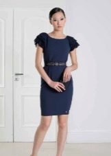 Вечернее платье короткое с рукавом