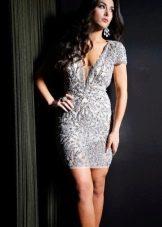 Красивое короткое вечернее платье