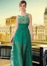 Женственное кружевное вечернее платье