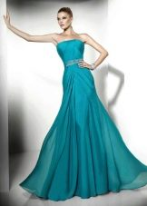 Мятное недорогое вечернее платье в пол