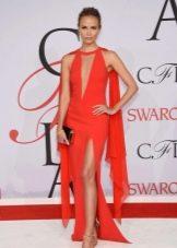 Вечернее платье в голливудском стиле на красной дорожке