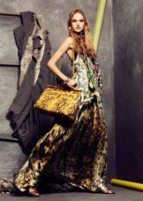 Роберто Кавалли леопардовое платье вечернее