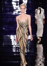 Вечернее платье с золотыми разводами