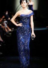 Синее вечернее платье от Армани