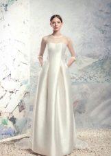 Свадебное платье с корсетом закрытое