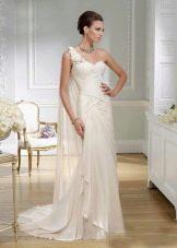 Свадебное платье в греческом стиле с корсетом