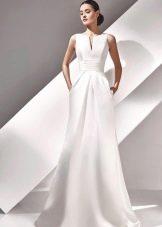 Свадебное платье с корсетом не пышное