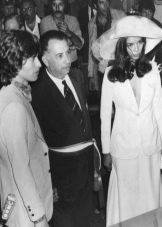 Свадебный костюм Бьянки Джаггер
