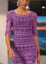 Вечернее платье от Vanessa Montoro фиолетовое