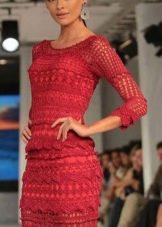 Вечернее платье от Vanessa Montoro красное
