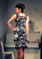 Вечернее платье крючком из ирландского кружева