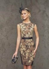 Кружное платье-футляр от Проновиас
