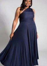 Вечернее платье асимметричное для полных на свадьбу