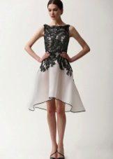 Вечернее платье короткое спереди длинное сзади от Ним Хан