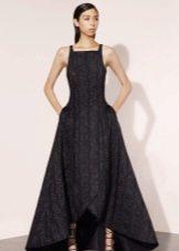 Вечернее платье короткое спереди длинное сзади с бретелями