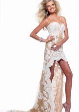 Кружевное платье асимметричное от Шерри Хилл