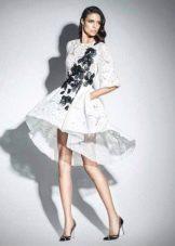 Вечернее платье короткое спереди длинное сзади от Зухаира Мурада