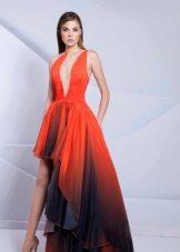 вечернее платье короткое спереди длинное сзади от Тарек Зино