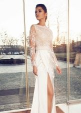 Свадебное платье с разрезом из коллекции Crystal Desing 2014