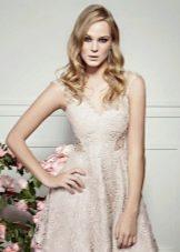 Вечернее кружевное летнее платье короткое