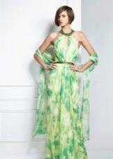 Вечернее летнее платье с американской проймой