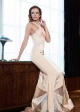 Белое вечернее платье русалка