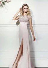 летнее вечернее платье с разрезом